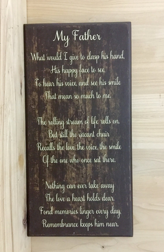 memorial sign loss of father loss of dad custom wood sign