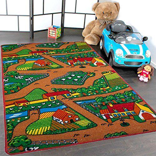 Kids Rug Farm Area Rug 3 X 5 Children Area Rug For Play Https Www Amazon Com Dp B00g71atkc Ref Cm Sw R Pi Dp U X Kids Rugs Kids Puzzle Mat Kids Playroom