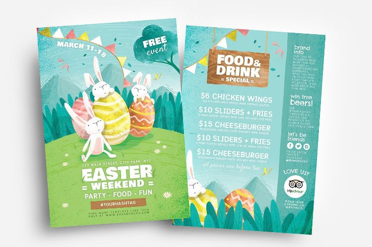 Easter Flyer Templates Flyer Template Easter Illustration