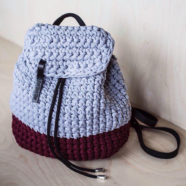 Bolso crochet carteras mochilas cestas pinterest for Bolso crochet trapillo