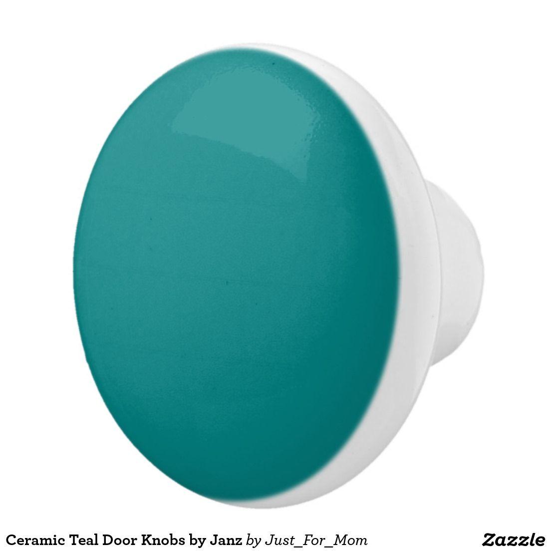 Ceramic Teal Door Knobs by Janz | Teal door, Ceramic knobs and ...