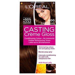 Casting Creme Gloss 400 Dark Brown Semi Permanent Hair Dye Loreal Loreal Casting Creme Gloss Creme