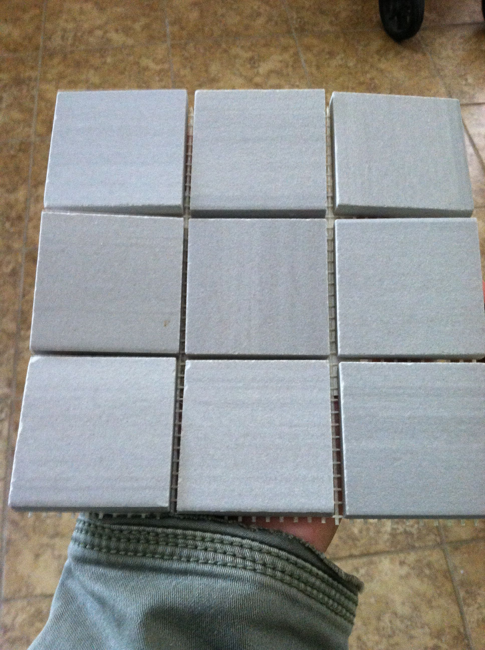 Arizona tile eclipse grey porcelain tile in 2x2 squares. This is our ...