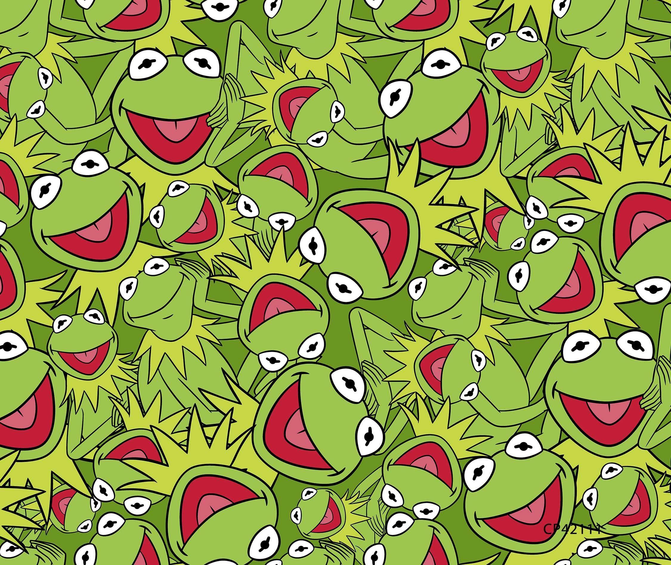 Muppets Kermit Packed 48 No Sew Fleece Throw Ranas