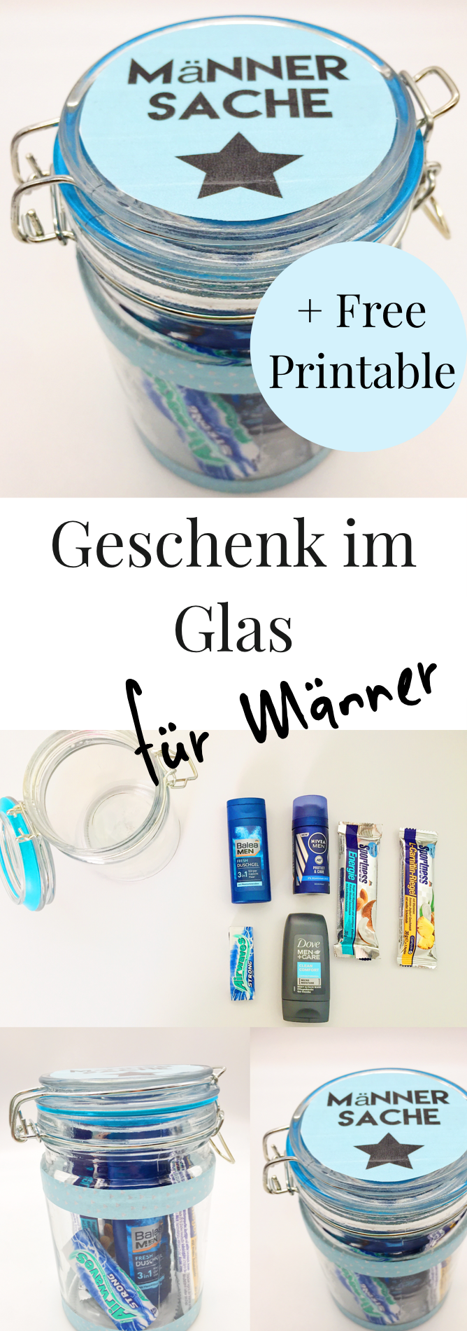diy geschenke im glas selber machen happy dings diy tipps pinterest mann geschenke. Black Bedroom Furniture Sets. Home Design Ideas