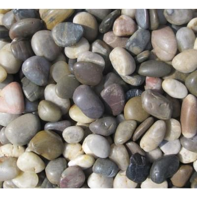 Msi 40 Lb Small Mixed Polished Pebbles Bag Lpebmmix3pol40 With