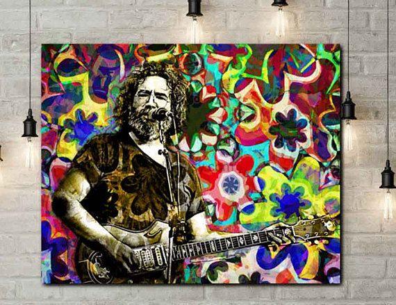 Grateful Dead Jerry Garcia Canvas Art Prints