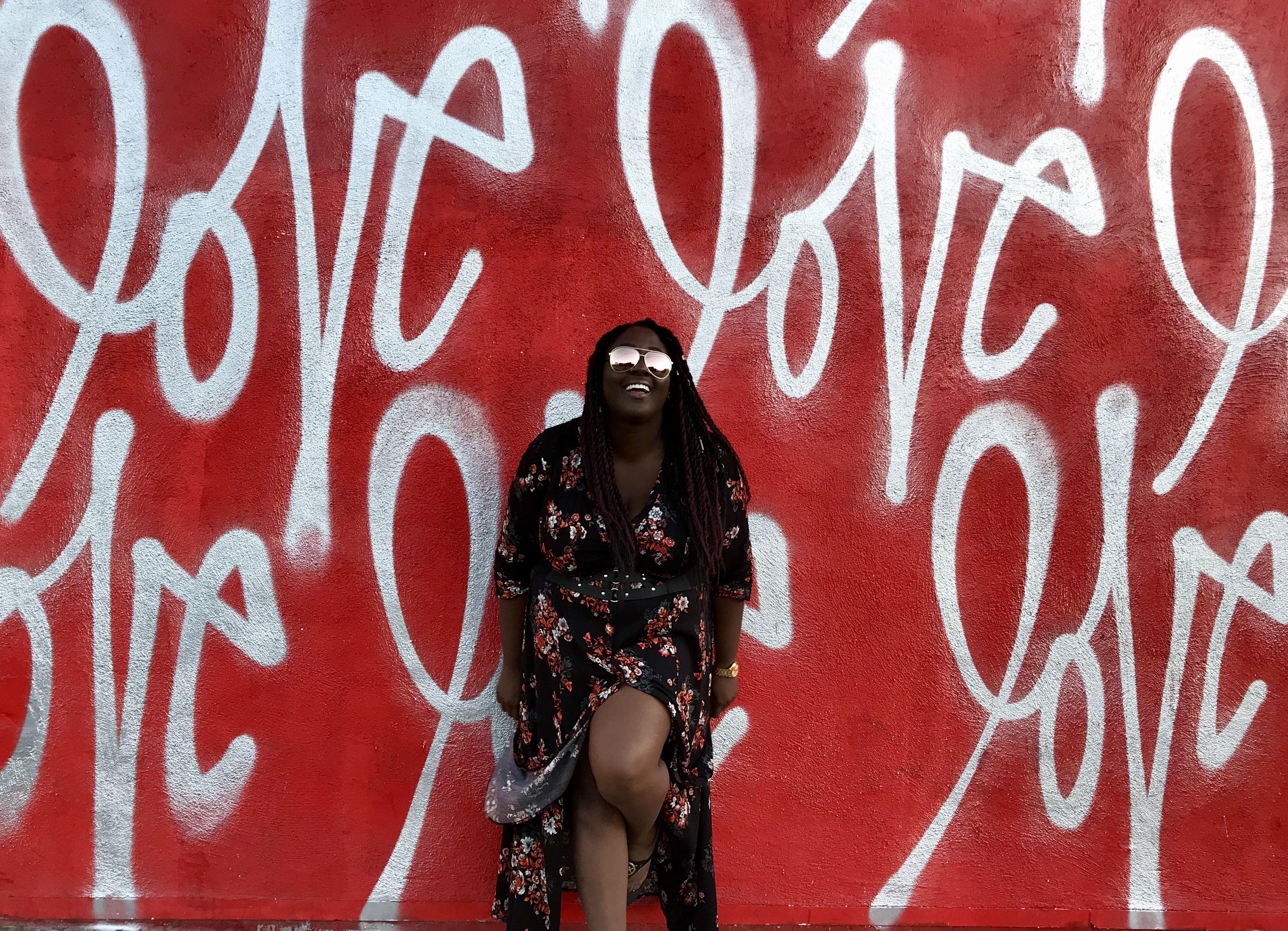 Love wall at smash box studios in culver city ca