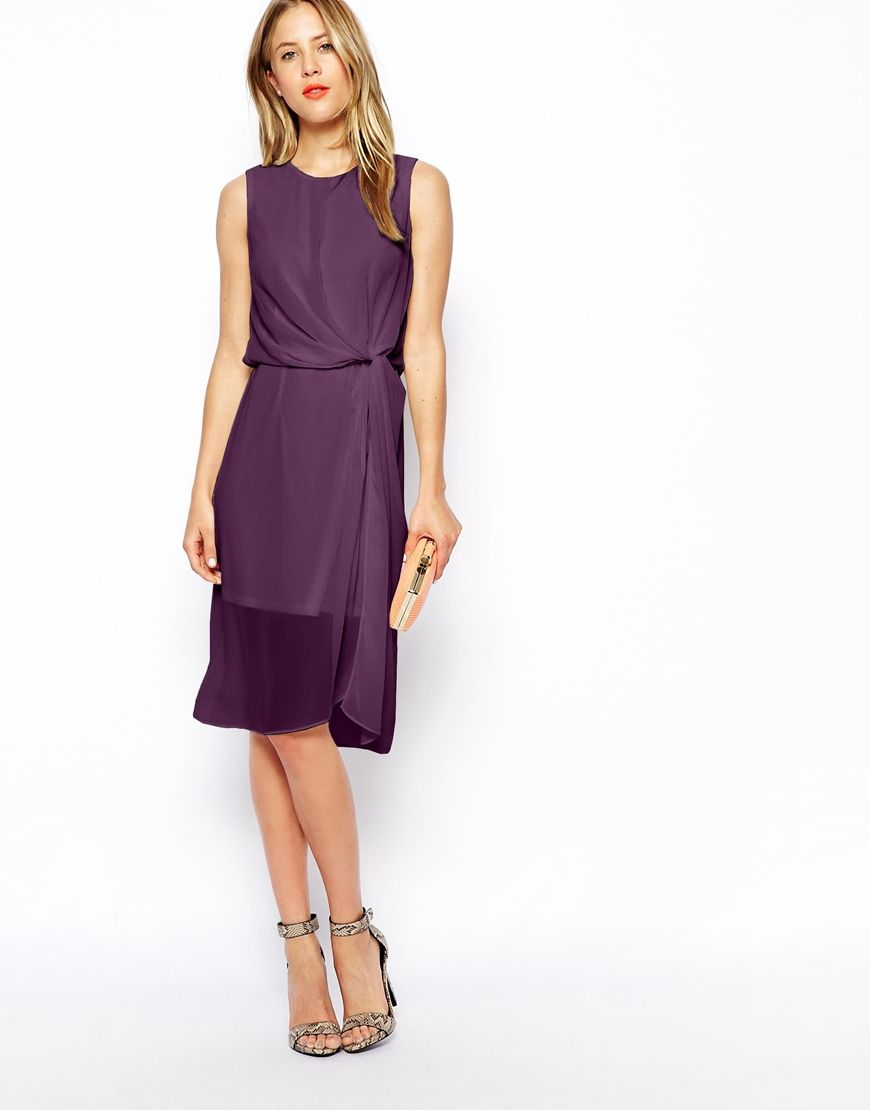 Image 1 of asos drape midi dress bridesmaid pinterest midi image 1 of asos drape midi dress ombrellifo Image collections