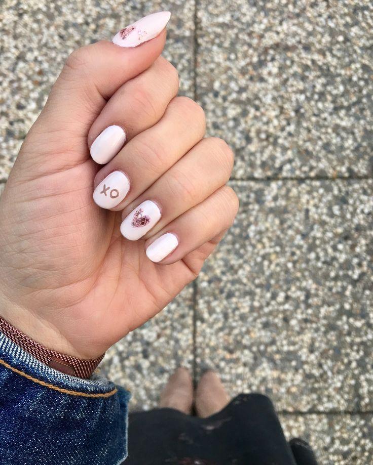 Three Valentines Day Nail Art Designs Minimalist Nails Painted
