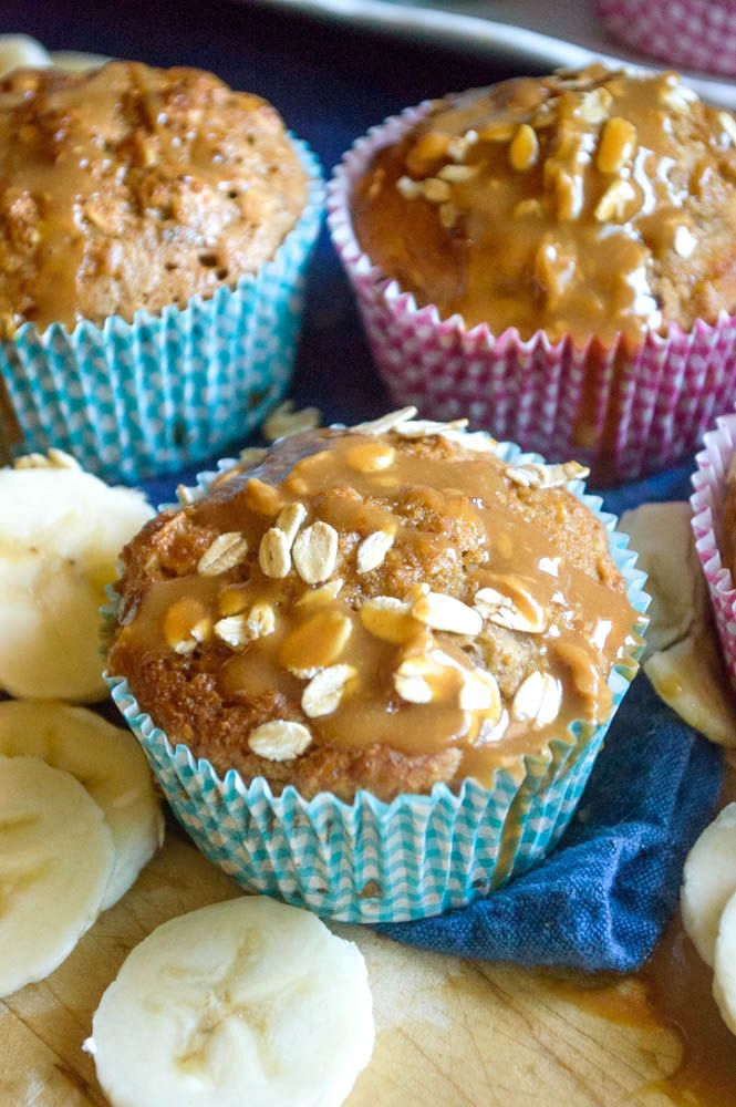 The Nutritious Kitchen  | Apple Butter Banana Bread Muffins |  The healthiest yet tastiest banana bread recipe yet! No butter, oil or refined sugar! Packed with apple butter and greek yogurt for moist and fluffy muffins! http://thenutritiouskitchen.com
