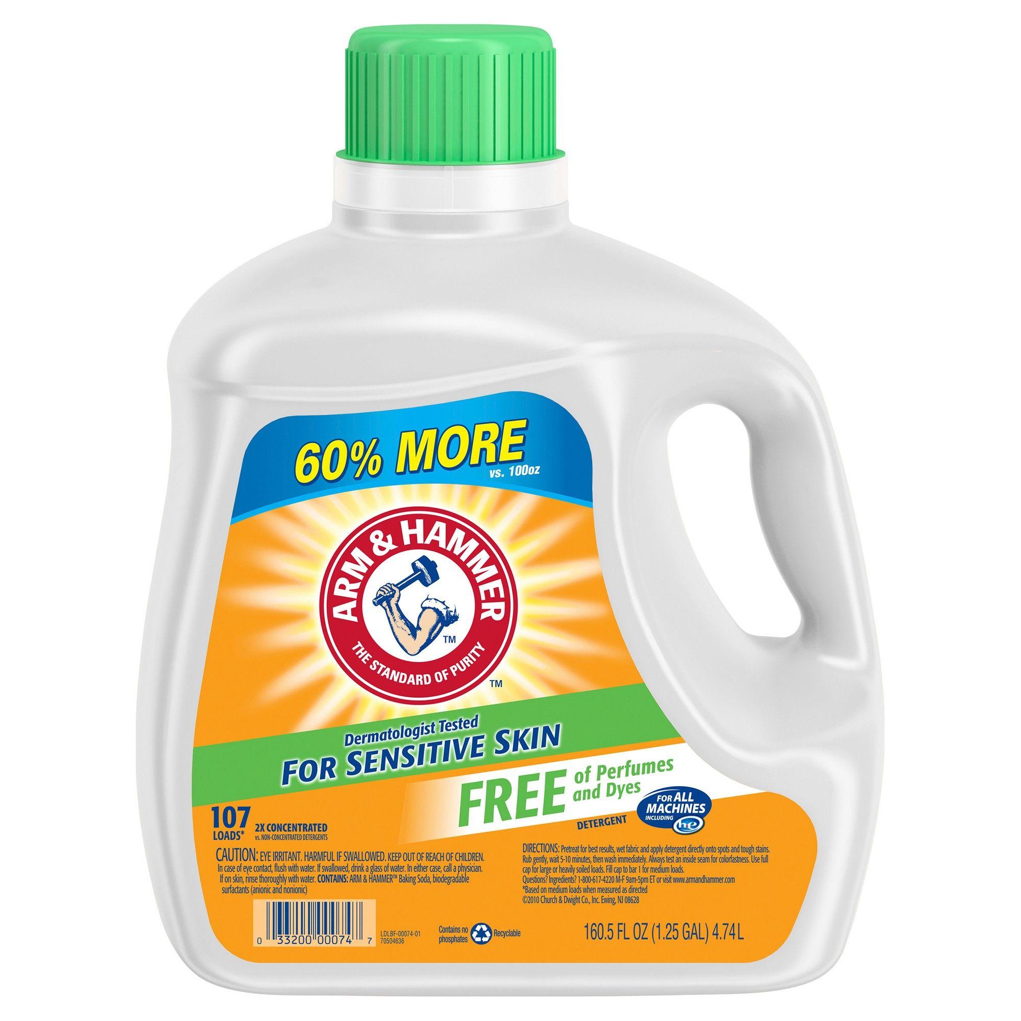 Arm Hammer Sensitive Free Clear Liquid Laundry Detergent