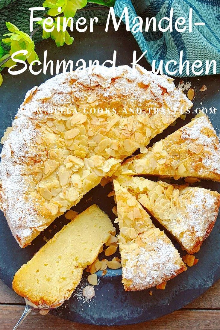 Leckeres Rezept für  Mandel-Schmand-Kuchen - in wenigen Minuten zubereitet! #kuchen #backen #einfach #falldesserts