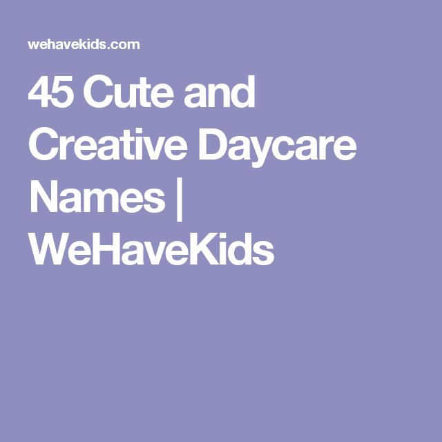 cute daycare slogans