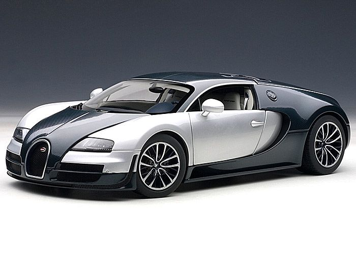 Silent Autos, The Home Of Model Cars Brings You This Bugatti Veyron Super  Sport Dark Blue / Silver White Doors Diecast Model Car By AUTOart In Stock  At The ...