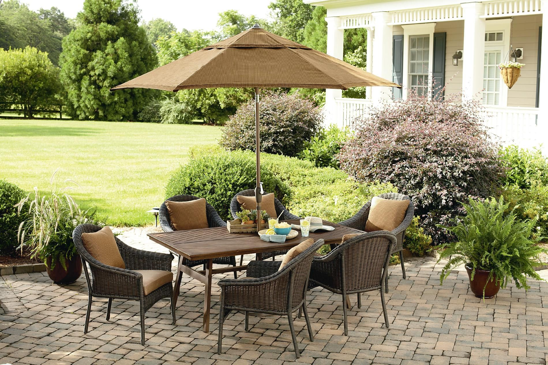 1100 Mason Green Camden 7 Piece Dining Set Outdoor Living Patio Furniture