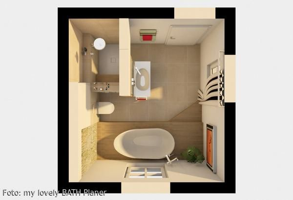 Grundriss 3D Badezimmer | Nowoczesne wnętrza | Badezimmer ...