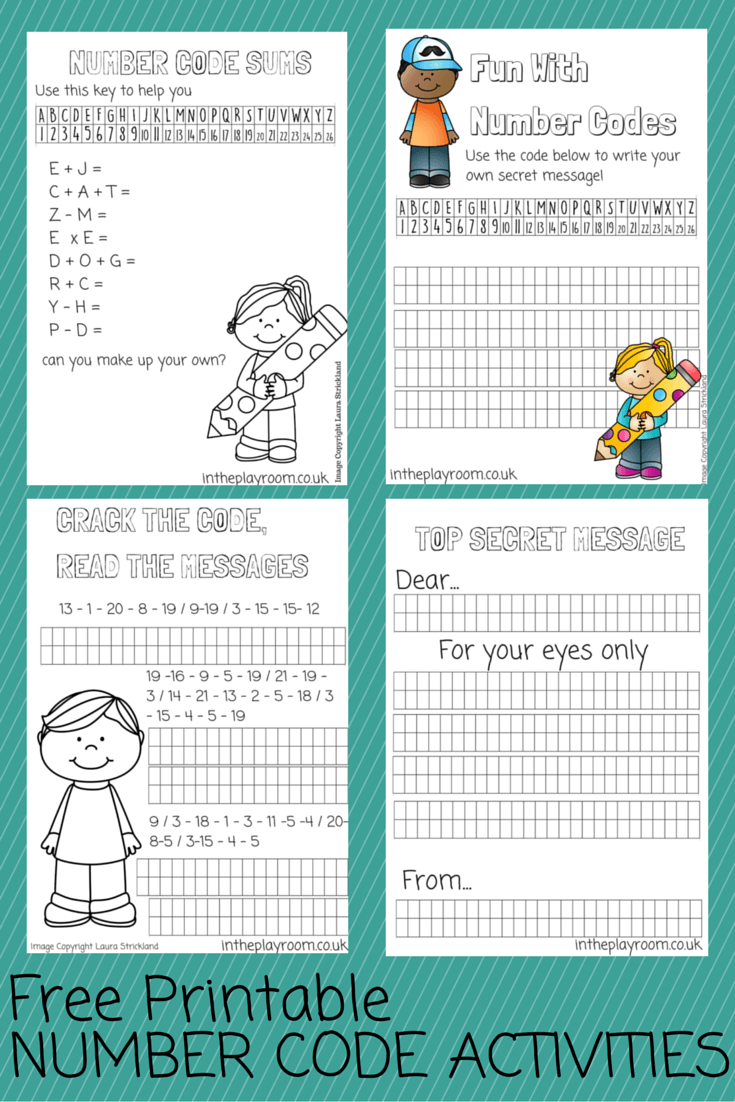 Number Codes Activity with Free Printables | Teaching Young Kids ...