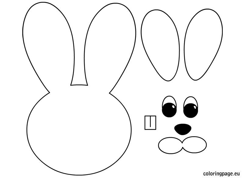 Easter Bunny Template Coloring Pagesegg