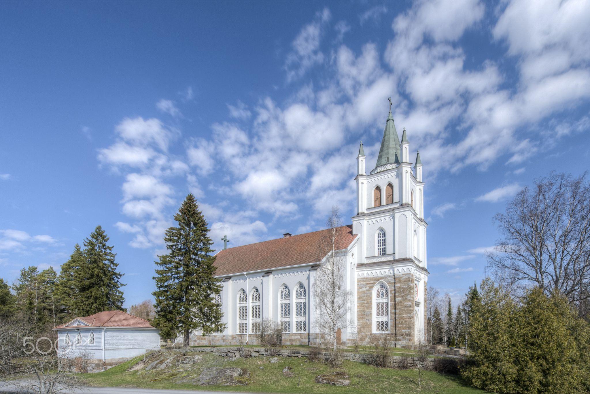 Ylistaro Church - Ylistaro church at first of May.