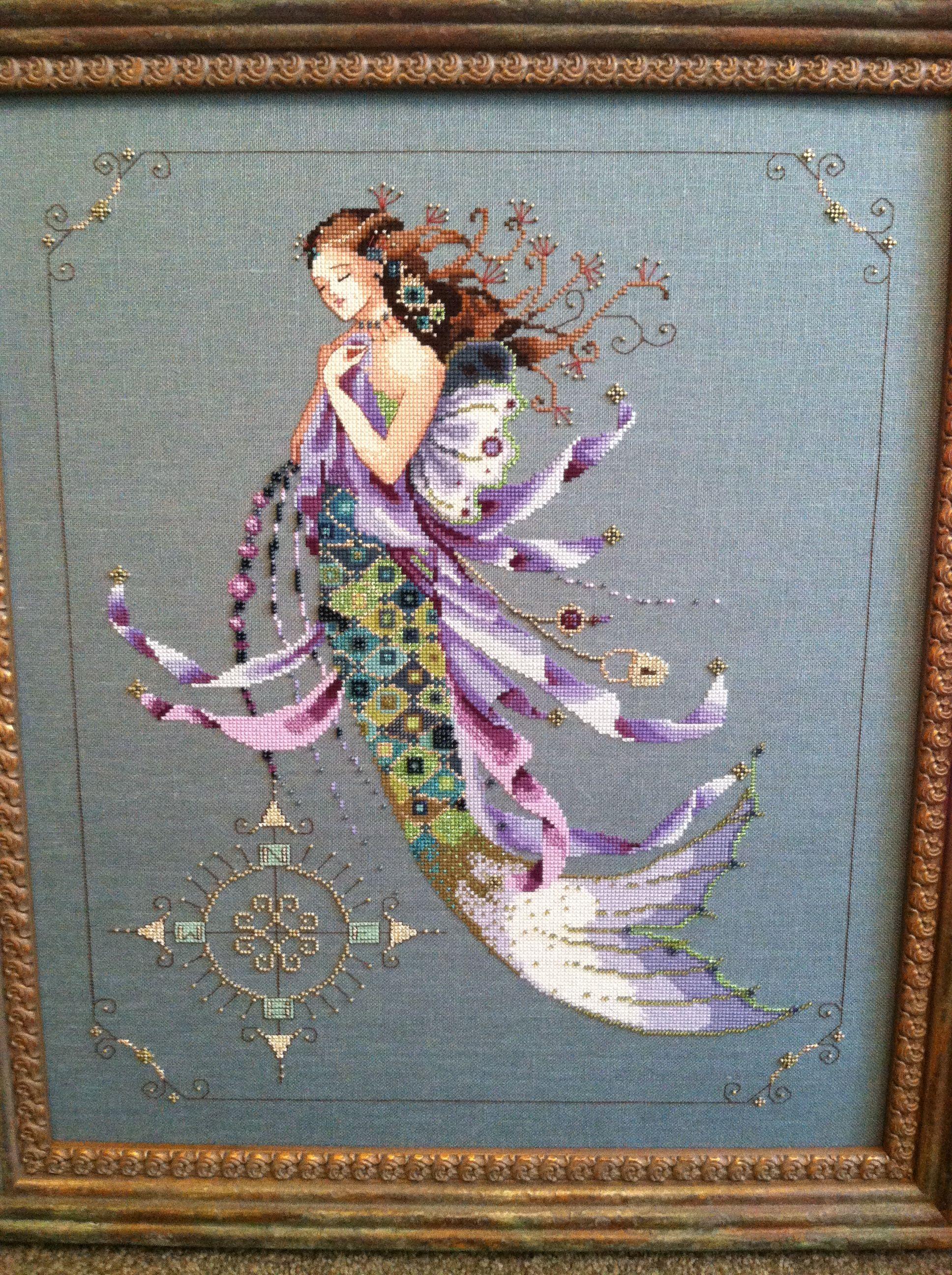 Shimmering Mermaid Cross Stitch Chart Mirabilia Designs