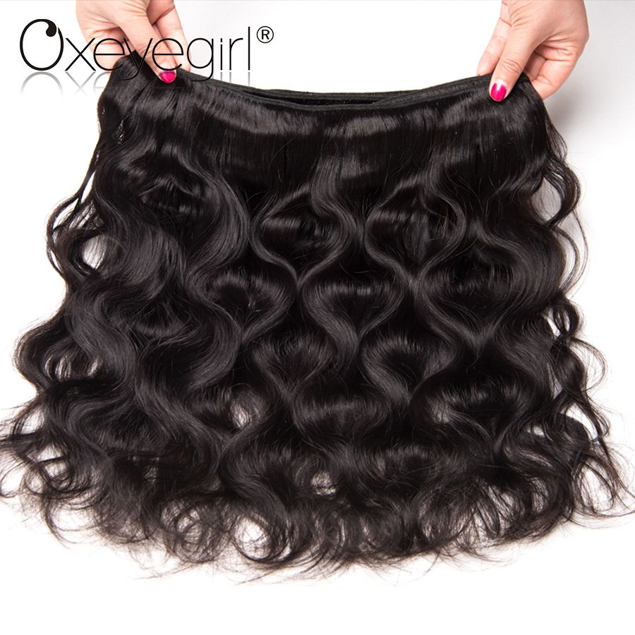 Oxeye Girl Peruvian Body Wave Bundles Human Hair Weave 1bundle Remy