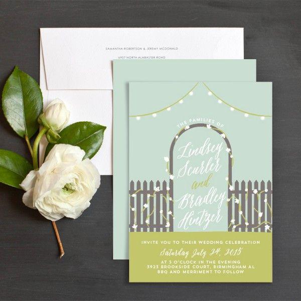 Celebrity Wedding Etiquette: Backyard Bliss Wedding Invitations By Shari Margolin