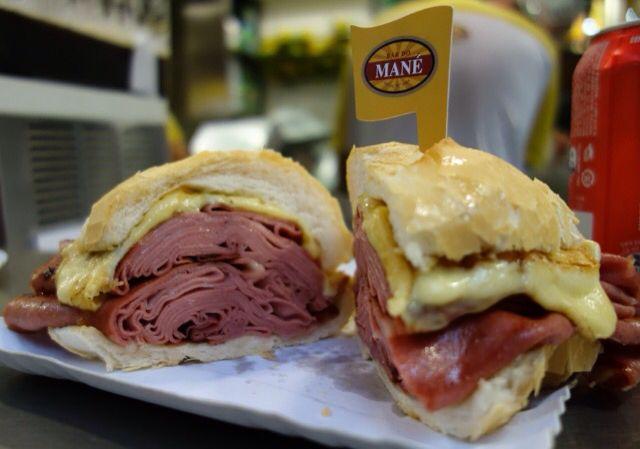 Mortadella sandwich (The original) in São Paulo at the Mercado Municipal (Bar do Mané)