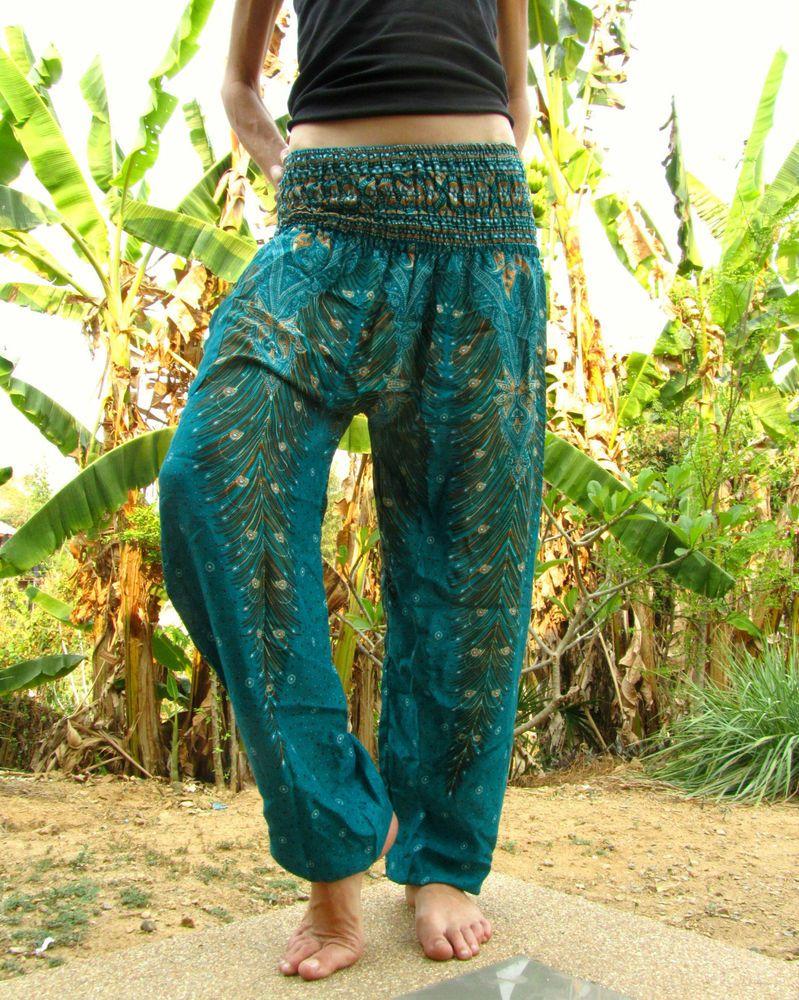 Harem pants Boho Hippie Alibaba Genie Jumpsuit Baggy Pants Yoga Cotton Festival Beach Wear Trouser Unisex Harem pant outfit