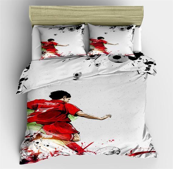 Football Goal Duvet Cover Sets Sports Funny Comforter Cover | Etsy
