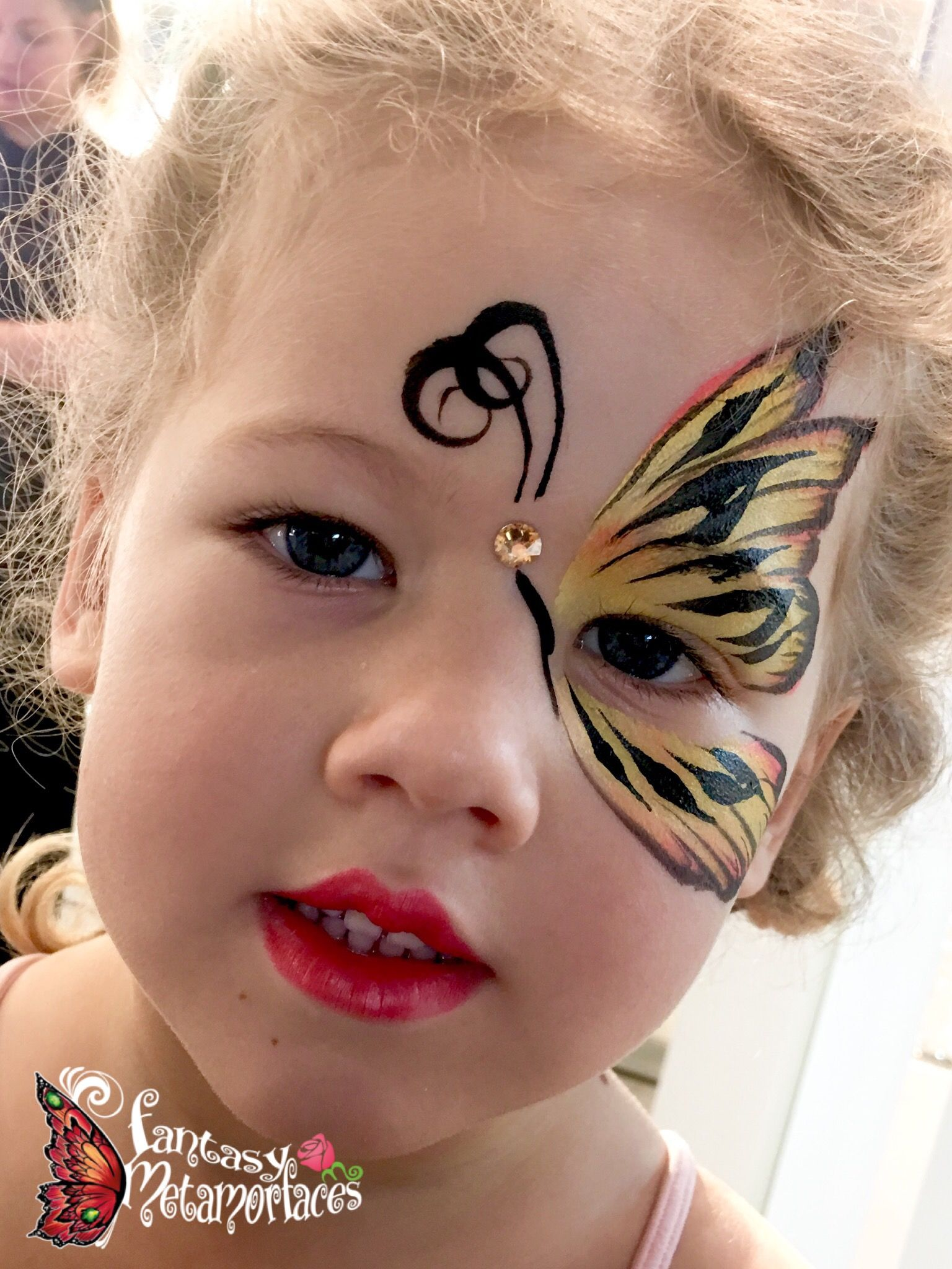 Tiger butterfly face painting in 2020 Face painting