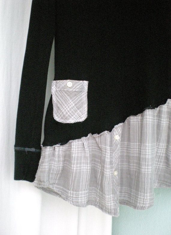 medium asymmetrical hemline shabby chic altered dress upcycled clothing n hen pinterest. Black Bedroom Furniture Sets. Home Design Ideas