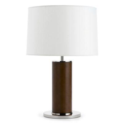 Ralph Lauren Round Leather Wred Table Lamp