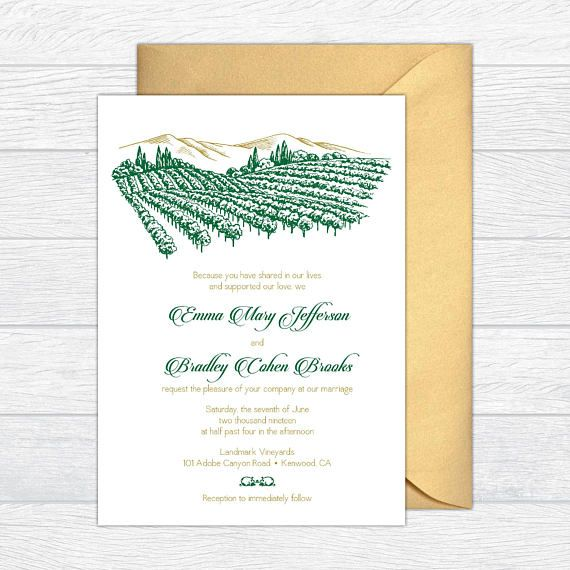 Download Winery Wedding Invitations Images