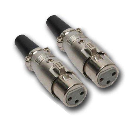 Mr  Dj XLRFH2 1 Pair XLR Female Head 3 Pin Connector Allows