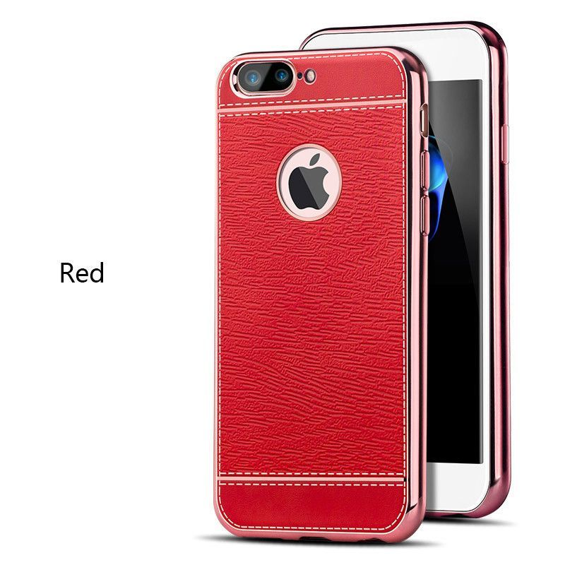 7 cases Plating TPU silicone soft Business style phone cover For iphone 7