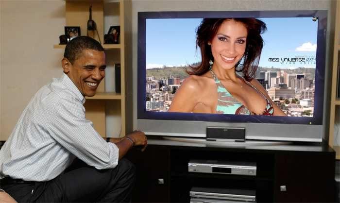 Gabriela Barros Miss Chile Universo 2004 en vivo Obama