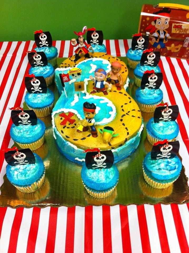 Remarkable Jake And The Neverland Pirates Birthday Cake Pirate Birthday Funny Birthday Cards Online Inifodamsfinfo