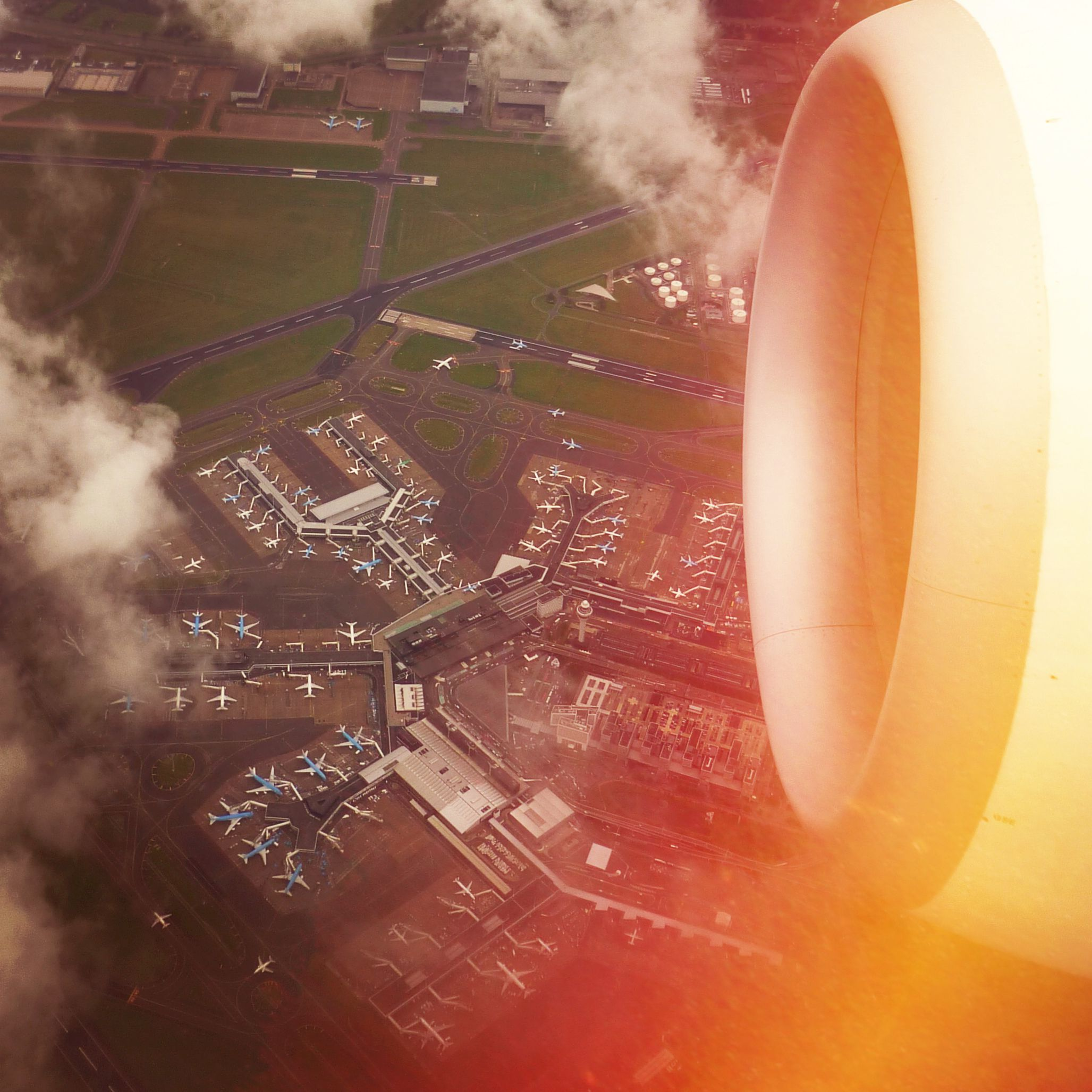 Travel the world ♥ Amsterdam Schiphol Airport seen from the air!