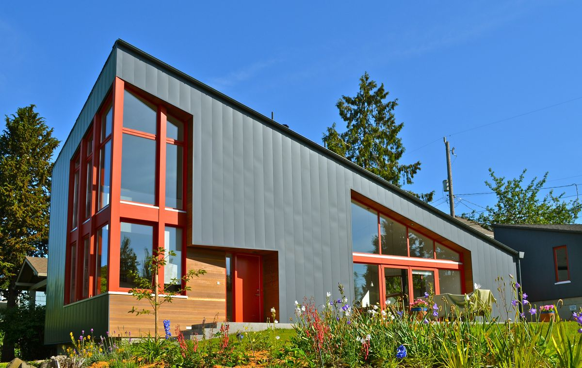 modern house metal siding