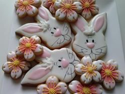 Easter bunnies and cherry blossoms