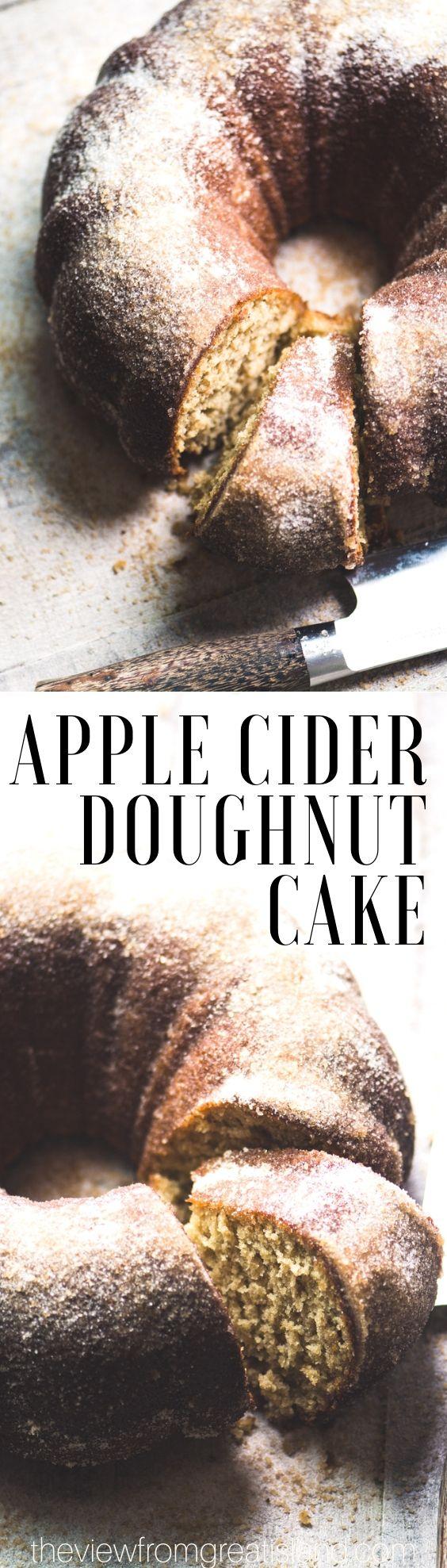 Apple Cider Doughnut Cake ~ a warm cinnamon apple bundt cake that tastes just like the iconic apple cider doughnuts you love.