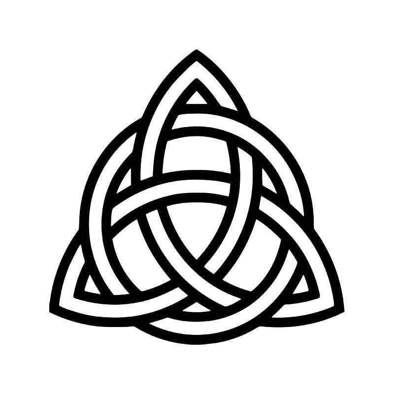 Triquetra Celtic Knot Pagan Symbol Vinyl Sticker | Tattoos