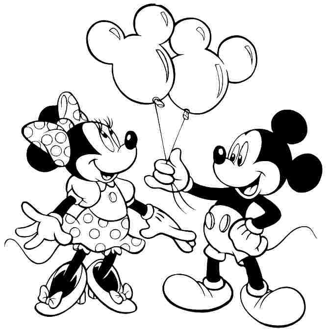 Minnie Mouse Disney Coloring Pages Printable
