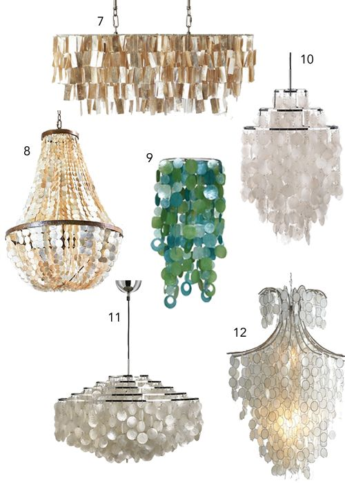 Capiz shell chandeliers stylecarrot get the look decor capiz shell chandeliers aloadofball Choice Image