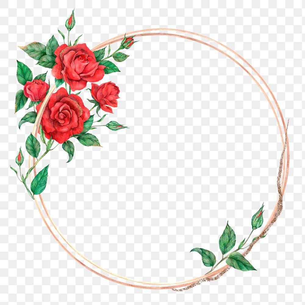 Rose Round Gold Frame Png Transparent Background Premium Image By Rawpixel Com Boom Gold Frame Flower Illustration Flower Frame
