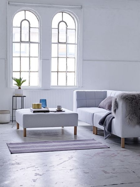 Sofa Schnelle Lieferung Couch Chubby, Recycelte Baumwolle Hellgrau | Bloomingville