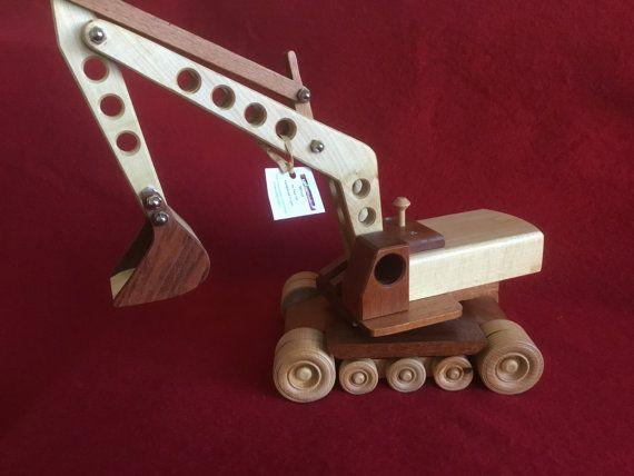 Wood Excavator model by KSWoolWonders on Etsy