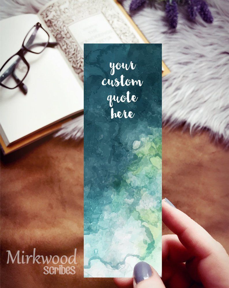 Personalized Bookmark Customized Quote Or Name Bookmark Create