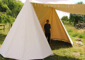 Past Tents (UK) French Double Belled Wedge Tent & Past Tents (UK) French Double Belled Wedge Tent | SCA | Pinterest ...